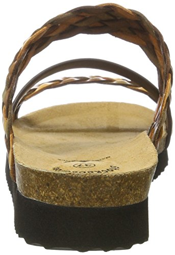 Lico Damen Natural Trend Flache Hausschuhe Braun (Braun)