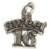 Charm Anhänger Sweet 16 aus 925 Sterling Silber