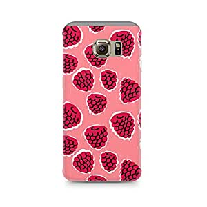 Printed back cover for Samsung Galaxy S6 Edge G9250 by Motivatebox.Pink Strawberry design, Polycarbonate Hard case with premium quality and matte finish