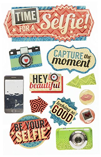 Paper Accents Cardstock (Paper House Productions STDM-0239E 3D Cardstock Stickers, Time for a Selfie by Paper House Productions)