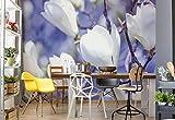 Wallsticker Warehouse Blumen Magnolien Natur Fototapete - Tapete - Fotomural - Mural Wandbild - (1620WM) - XL - 208cm x 146cm - VLIES (EasyInstall) - 2 Pieces