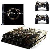 The Elder Scrolls ONLINE Skyrim PS4 Skin Sticker Vinyl Aufkleber Schutzfolie zum Konsole & 2 Controller NEU