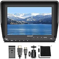Neewer 7 pulgadas 4K Monitor HD de campo en la cámara con entrada HDMI y salida de señales de 10-Bit IPS pantalla 1920 X 1200 alta resolución para Canon Nikon Sony Olympus Pentax Panasonic DSLR cámara videocámara (NW-S7) ( La fuente de energía del artículo y la batería no son incluidas)