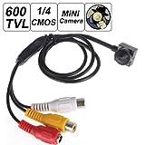 ePathChina® Mini 600TVL 1/4HD Sensor 5Mega Pixel Smallest cono estenopeica Mini cámara oculta espía cámara de vídeo con cámara de 3.7mm lente TV estándar–NTSC