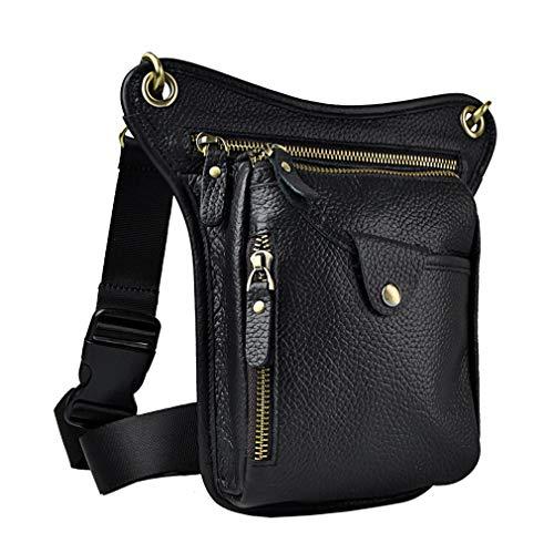 Xieben Vintage Cintura Bolsa Cuero Gota Pierna Bolsa
