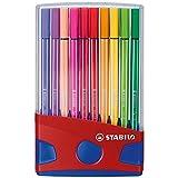 Feutre de dessin - STABILO Pen 68 - ColorParade rouge de 20 feutres pointe moyenne sans attache - Coloris assortis