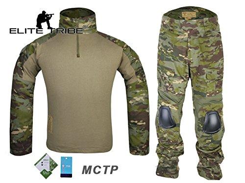 AIRSOFT Jagd Tactical BDU passt Military Combat G2Uniform Shirt Hose MultiCam Tropic (Uniform Patch Abzeichen)