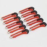 10 Stück Cuttermesser Teppichmesser Abbrechmesser Cutter 18 mm