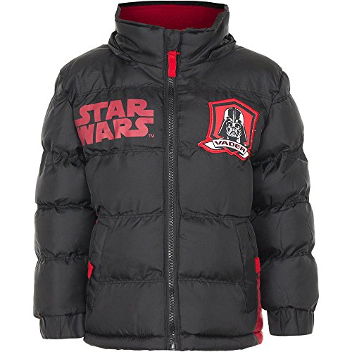 (Lizenzierte Kinder Star Wars wattierte Jacke / Mantel. (4 Jahre (104 cm), Schwarz))