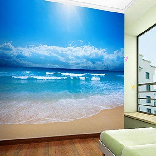 MuralXW Fototapete Tapete Für Wände 3D Blue Sky Ocean Beach Vlies Gedruckt Tapete Wohnzimmer Schlafzimmer Fototapete-280x200cm (Rolex Tauchen)