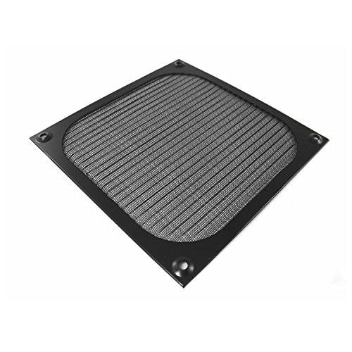 AAB Cooling Aluminium Lüfter Filter/Grill Lüfterabdeckung (80mm, Schwarz)
