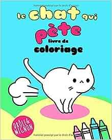 Coloriage Chat Cadeau.Amazon Fr Le Chat Qui Pete Livre De Coloriage Vit