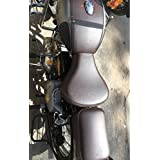 Sahara Gun Metal Coffee Brown Seat Cover And Tank Cover For Royal Enfield Classic 350/500