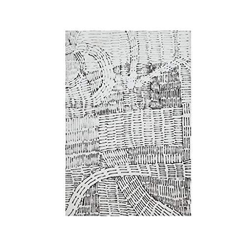 Teppiche JXLBB Polypropylen-weiche Schwarzweiss-Klassische marokkanische Art Verdickung Plus weiche minimalistische Linie Streifen-modernes Wohnzimmer-Schlafzimmer-Couchtisch