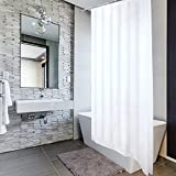 VALNEO Duschvorhang mit Anti-Schimmel-Effekt, weiß , 180 x 200 cm, inkl. Befestigungsringen | 2 Jahre Zufriedenheitsgarantie | Verbesserte Version: besonders hochwertig mit Gewichtsband im Saum und Ösen aus Metall