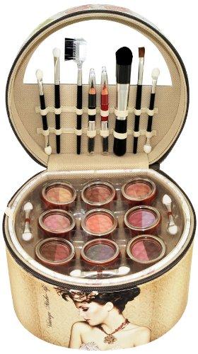 Gloss! Vintage - Maleta de maquillaje, 36 piezas, color beige