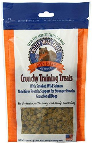 Grizzly pet products - croccante di formazione cane tratta con salmone selvaggio affumicato - 5 oncia.