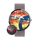 atFoliX Schutzfolie passend für Motorola Moto 360 2.Generation 46 mm Folie, entspiegelnde & Flexible FX Bildschirmschutzfolie (3X)