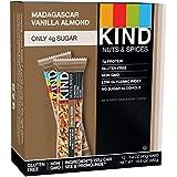 KIND Nuts & Spices Barre de céréales salée et sucrée Nut & Spice - Chocolat noir, vanille de Madagascar et amandes 40 g (Lot de 12)