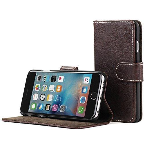 Snugg Coque iPhone 6 et 6S, Apple iPhone 6 et 6S Etui à Rabat [Emplacements pour Cartes] Cuir...