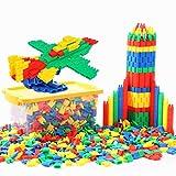 QCHOMEE 450PCS Jeu de Construction Puzzle Enfants EnsembleBlocs Briques de Construction Intelligence en Plastique DIY Jouet Educatif Précoce pour Filles Garçons 3-6 Ans Cadeau de Noël Anniversaire