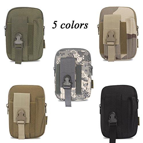 Tactical MOLLE pouch-outdoor Kompaktes EDC Utility Gadget Taille Tasche -900d Oxford Fanny pack-universal Multifunktional Kapazität Sicherheit Zubehör kits-holster für Camping Wandern Reisen grau/camouflage