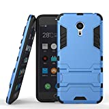 Chevron Meizu M3 Note Shock Proof Slim Back Case - (Deep Blue) With Stand (Impact Resistant) - Ultimate Warrior Case