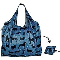 Re-Uz Lifestyle Shopper XL - pieghevole grande borse della spesa riutilizzabili - I Love Dogs Sky - Gift Bag Dog