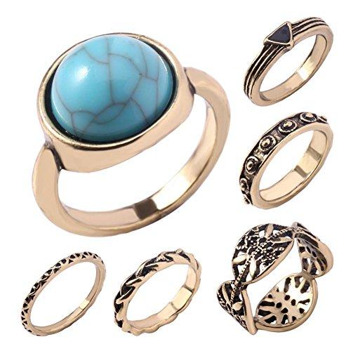 Moda Set di imitazione turchese anello con