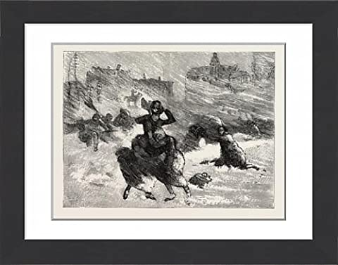 Framed Print Of Blizzard In New York, The Perils Of Union Square In The Midst Of The Blizzard