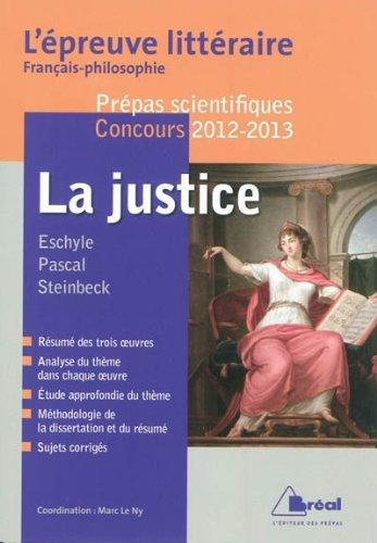 La justice - L'épreuve littéraire 2012-2013