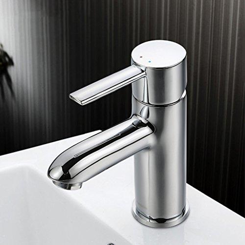 Salle de bains Lavabo robinet d'eau Salle de bains Vasque Simple To The Hot Copper Faucet Et robinet de bassin froid