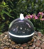 LED Brunnen Granitstein anschlußfertig mit Becken und Pumpe für innen und außen