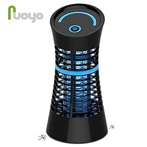 Lampe Anti-moustique, NuoYo LED Destructeur de Moustique Interieur Électronique Zapper Lampe est les Meilleures Sécurises et Efficaces Lampe pour Anti-moustique/ Anti-insectes UV -lumière 5W Noir