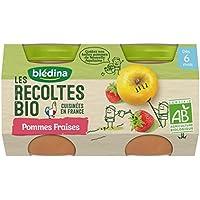 Blédina les Récoltes Bio 2 Petits Pots Pommes Fraises 260 g -