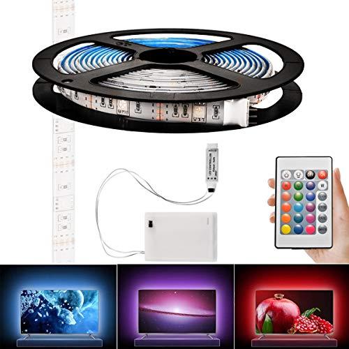 Tutmonda Color con pilas de la luz tira los 4m LED que cambia para decoración casera PC TV