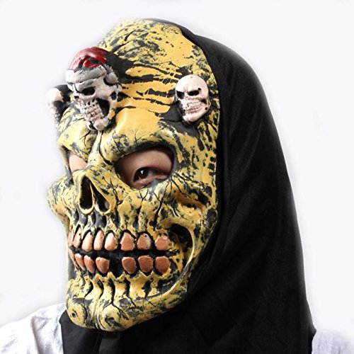 Gummi Kostüm Mann Spider - Scary Halloween Masken für Erwachsene Melting Face Latex Kopfmaske Bloody Horror Halloween Kostüm Maske für Männer Kleinkinder