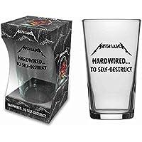 Metallica Cristal hardw ired... cerveza cristal Long Drink XL 500ml para beber 1pinta