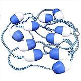 Corde de Piscine, Corde de séparation de sécurité pour Piscine de 5 m Corde Flottante, kit de Conduite de Ligne de sécurité Cordon Flottant
