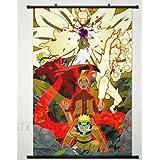 Anime Naruto Póster de desplazamiento Home Decor Pared Tela Pintura Janpan Art cosplay/Itachi Uchiha Sasuke Naruto Hatake Kakashi 23,6x 35,4inches-587[a] by Naruto