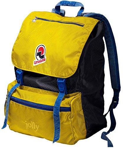 Zaino INVICTA - JOLLY III VINTAGE - giallo blue original Porta PC