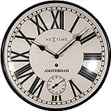 NeXtime Wanduhr Amsterdam Dome, lautlos, Retro-Design, rund, ø 30 cm