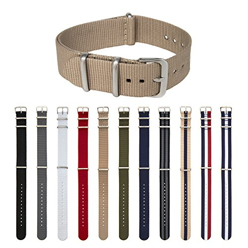 archer-watch-straps-premium-nylon-nato-straps-choice-of-color-and-size-khaki-20mm