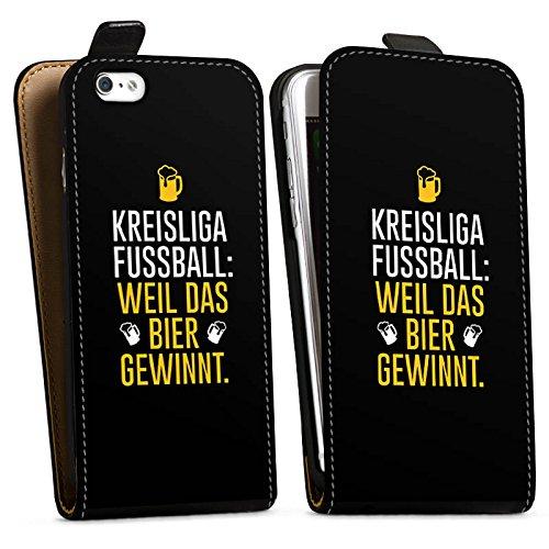 Apple iPhone X Silikon Hülle Case Schutzhülle Fußball Kreisliga Bier Downflip Tasche schwarz