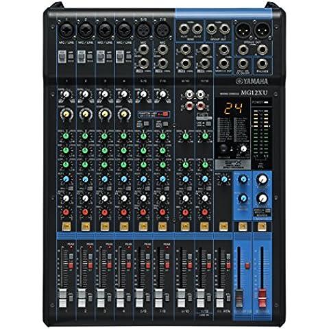 Yamaha MG12XU mezclador DJ - Mezclador para DJ (24 Bit, -78 Db, 192 kHz, 6,3 mm, 22W, 30,8 cm)