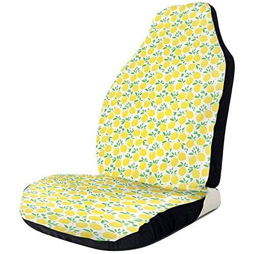 Car Seat Protector,Nette Zitrone-Druck-Weiche Qualitätsfront-Autositzbezüge Für Das Meiste Fahrzeug-Auto 2 Teile/Satz -