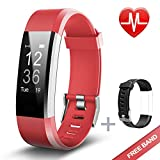 Fitness Tracker, Lintelek Heart Rate Monitor Activity Tracker with Connected GPS Tracker, Step