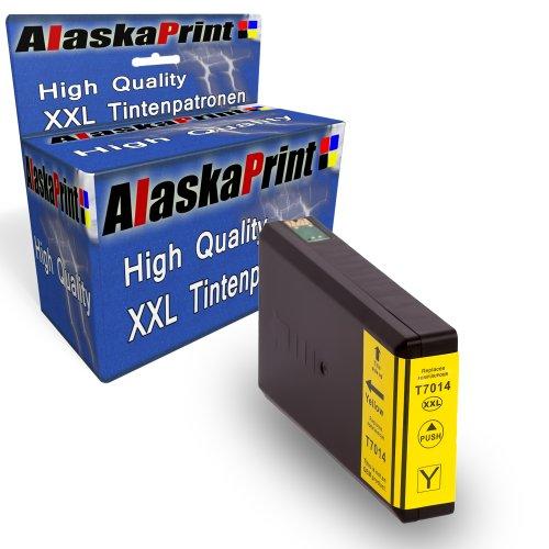 Preisvergleich Produktbild Druckerpatrone Kompatibel für Epson T7024 T7014 T7034 XL Yellow Gelb für Epson WorkForce PRO WP4015 WP4025 WP4095 WP4515 WP4525 WP4535 WP4545 WP4595 WP 4015 WP 4025 WP 4095 WP 4515 WP 4525 WP 4535 WP 4545 WP 4595 Epson Workforce Pro WP-4000 WP-4015DN WP-4095DN WP-4500 WP-4515DN WP-4525DNF WP-4595DNF WP-4025DW WP-4535DWF WP-4545DTWF mit Chip 1xT7014Y