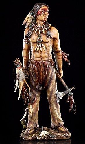 Indianer Figur mit Tomahawk 49,5 cm | Krieger Western Deko