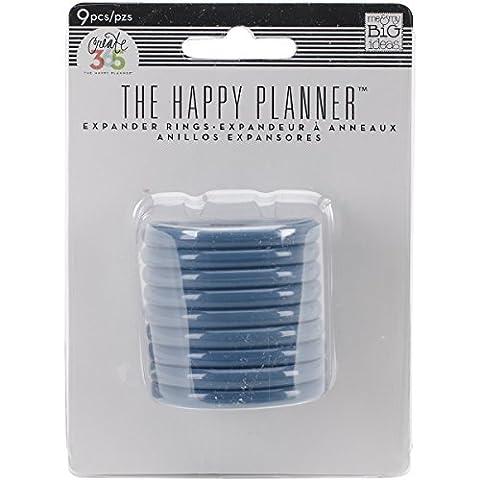 Me & My Big Ideas créer en plastique 365Planning Expander rings-blue
